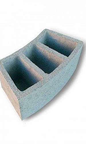 bloco de concreto curvo