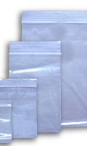Embalagem plástica zipada